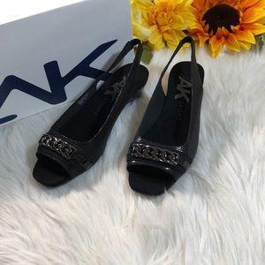 Anne Klein Hadee Slingback Wedge Sandals 6.5